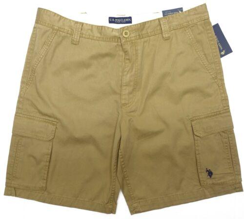 US Polo Assn Men Cargo Shorts Flat Front Cotton