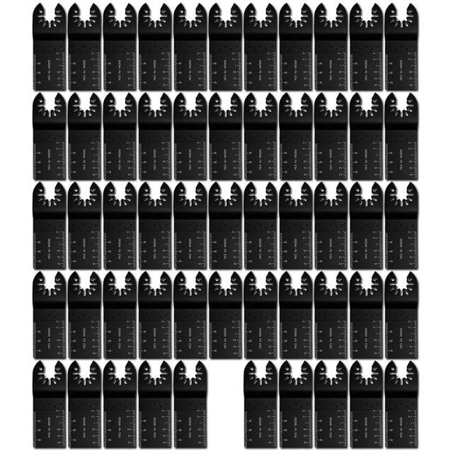50PCS Universal 34mm Oscillating Multi Tool Saw Blades Carbon Steel Cutter DIY