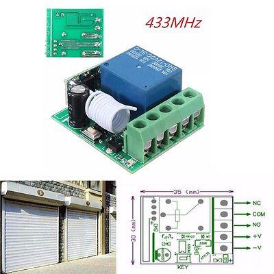 DC 12V 1 Ch 433MHz Wireless Relay RF Remote Control Switch Heterodyne Receiver