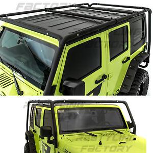 Cargo-Roof-Rack-System-Base-Top-Cross-Bar-for-07-18-Jeep-Wrangler-4-Door-ONLY
