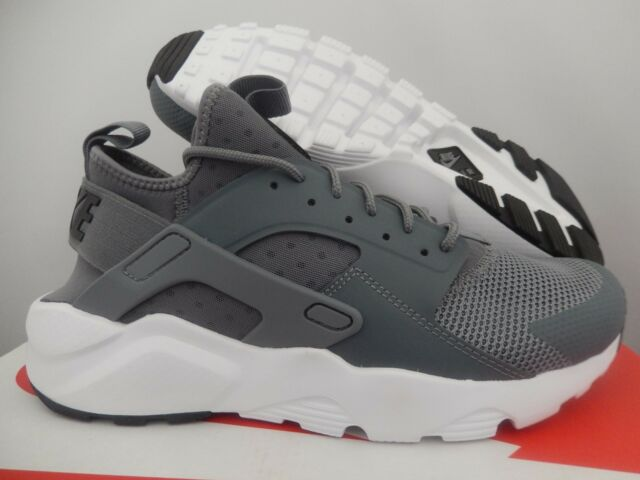 detailed look 64b43 ba7aa MENS NIKE AIR HUARACHE RUN ULTRA COOL GREY-BLACK-WHITE SZ 6  819685
