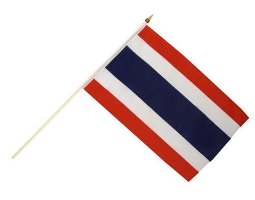 Thailand Stockflagge Flaggen Fahnen Stockfahne 30x45cm