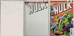 Incredible-Hulk-181-FACSIMILE-EDITION-Blank-Sketch-Variant-2-COMICS-IN-1