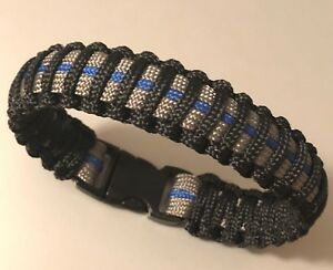 Thin Blue Line Paracord Bracelet Blue /& Gray * Police