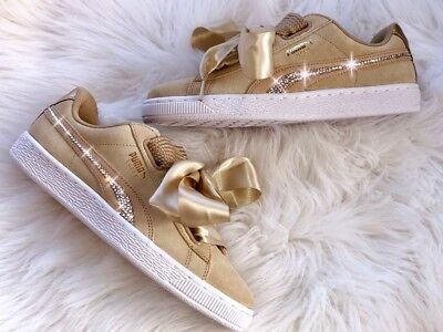 Puma Suede Heart Safari Wn´s Sneaker mit Swarovski Elements | eBay