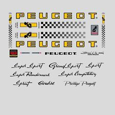 Peugeot PX10, PY10 Bicycle Stickers - Decals - Transfers - n.0354