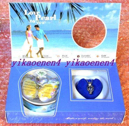 2018 nuevo conjunto de 1 Amor Deseo Collar de perlas Set Gota Colgante De Ostra 12 Colores
