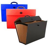 Expanding Box File 20 Pockets A4 Documents Organiser Paper Folder Handle Case