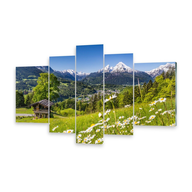 Mehrteilige Bilder Glasbilder Wandbild Berge Bayern