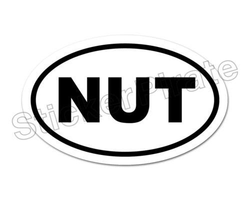 * Oval Car Magnet NUT Magnetic Bumper Sticker