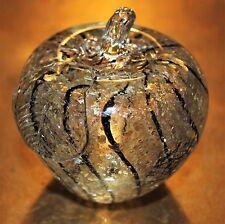 Murano Art Glass Gold Fleck Apple Paperweight Hand - Blown