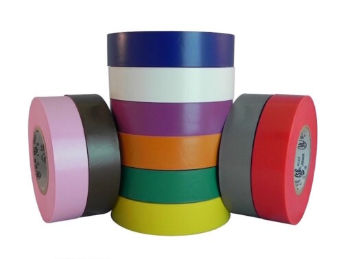 "TapesSupply 10 Rolls Pack Green Electrical Tape 3//4/"" x 66 ft"
