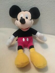 Disney-MICKEY-MOUSE-10-034-standing-7-034-sitting-Plush-stuffed-animal-EUC