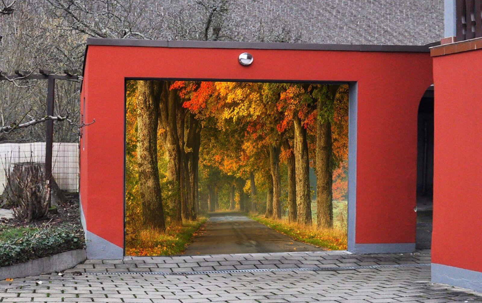 3D Autumn Woods 7 Garage Door Murals Wall Print Decal Wall AJ WALLPAPER UK Carly