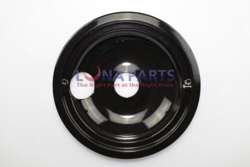 "Whirlpool Roper Magic Chef Range 8/"" Black Porcelain Burner Drip Bowl W10290350"