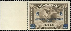 Mint-NH-Canada-F-Scott-C4-C2-Surcharged-1932-Air-Mail-Stamp