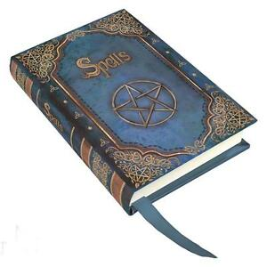 Mini-Blue-034-Spells-034-Blank-Book-of-Shadows-Journal-Diary
