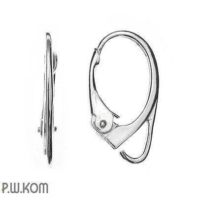 Sterling Silver 925 leverback earring kz 1 1 pair