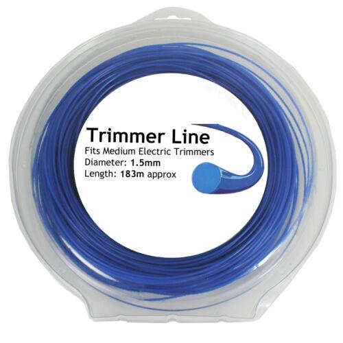 Strimmer Line 183m x 1.5mm for QUALCAST GGT3001 GT2518 GT2826 Trimmer