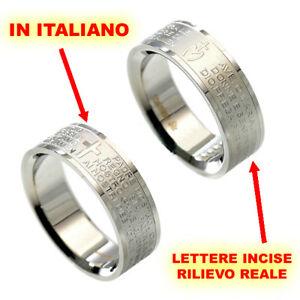 scritta-ITALIANO-Nostro-Anello-Padre-Amen-Ave-Maria-color-argento-donna-eq