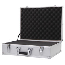 Large Aluminum Hard Briefcase Toolbox Storage Box Tool Carrying Case With Foam