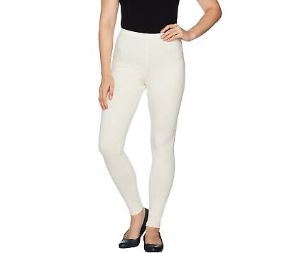Women with Control Tall Fit Pull-On Knit Leggings Winter White S NEW A235955