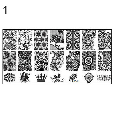 10 New Design DIY Nail Art Image Stamp Stamping Plates Manicure Template Tool
