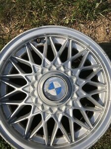 BMW-3-SERIES-E30-14-034-BBS-ALLOY-Alu-OEM-ORIGINALES-ETAT-MOYEN-SANS-VOILE
