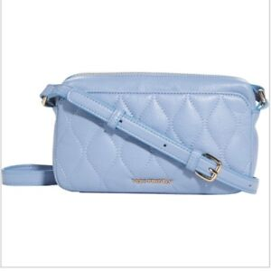 919e268cba1e Image is loading Vera-Bradley-Quilted-Leather-Sydney-Crossbody-Bag-Chambray-