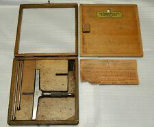 Vintage Lufkin Depth Micrometer Gauge No 515 With Original Case