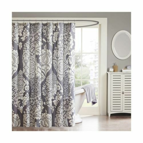 Madison Park MP70 1920 Vienna Shower Curtain Floral 72 X Slate Bded55