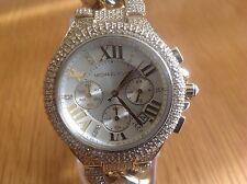 Michael Kors Ladies Camille Gold Tone Glam Chrono Glitz Chain Watch MK3248