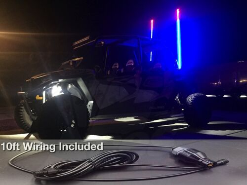 Aces Racing 6ft 20 Color 200 Combination LED Lighted Whip-UTV-ATV-RZR-Off-Road