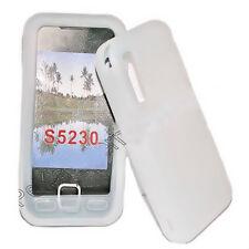 Silikon TPU Handy Hülle Cover Weiß für Samsung GT S5230 + Displayschutzfolie