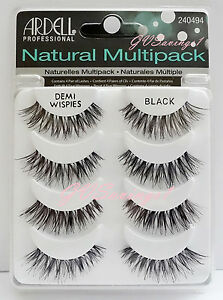 4-Pairs-Ardell-DEMI-WISPIES-NATURAL-MULTIPACK-False-Eyelashes-AUTHENTIC-Lot