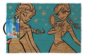 Frozen-Anna-amp-Elsa-Fussmatte-Groesse-60-x-40-cm-Material-Kokosfaser