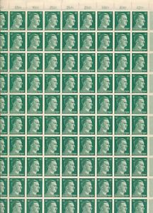 Stamp Germany 42 PF Adolf Hitler Sheet 1941 WWII 3rd Reich German MNH Faults