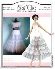 Sew Chic 1950s Crinoline Pretty Petticoat Sewing Pattern 2-18 Bridal Slip LN1208