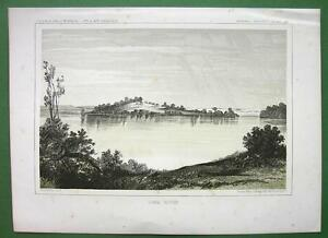 AMERICAN-WEST-Minnesota-Lake-Jessie-1850s-Tinted-Litho-Print