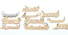 14K Solid Gold Any Name Personalized Pendant Necklace