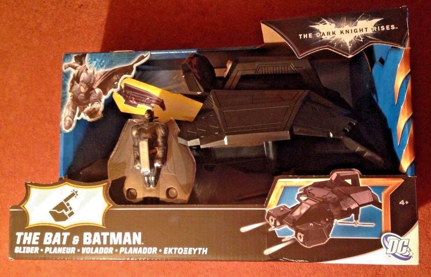 The Dark Knight Rises Bat And Batman Glider Glider Glider Original DC Comics Toy Brand New c2b21c