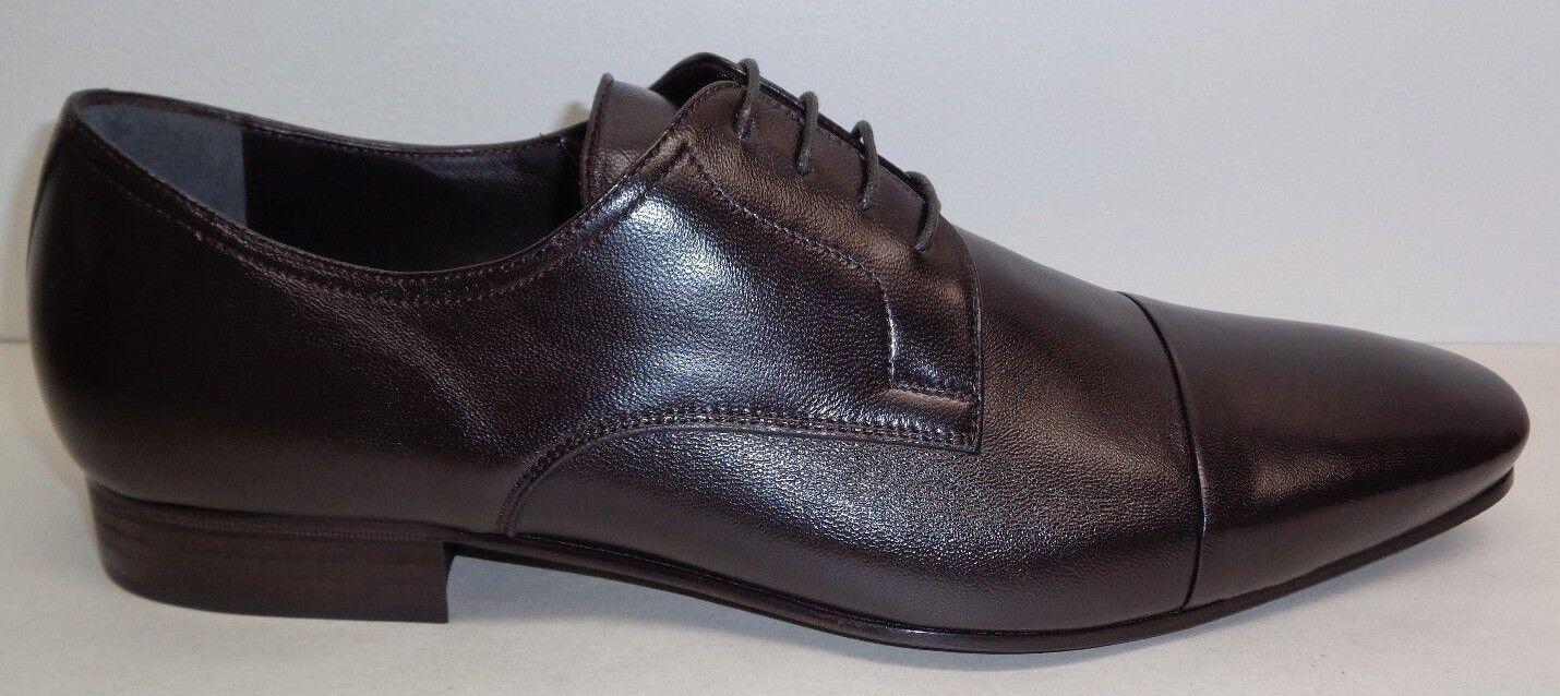 Bruno Magli Size 12 M MARTICO Dark Brown Pelle Lace Up Oxfords New Uomo Shoes