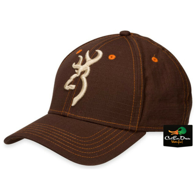 7fee55e19d117f BROWNING BUCKMARK LOGO LOGAN COTTON BALL HAT BASEBALL CAP ADJUSTABLE BROWN