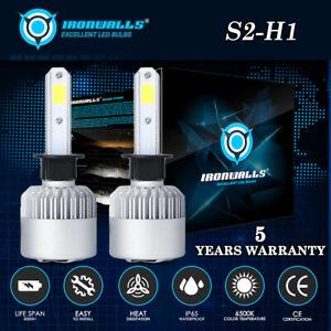 IRONWALLS-COB-H1-2000W-300000LM-LED-Headlight-Conversion-Kit-Bulbs-6500K-White