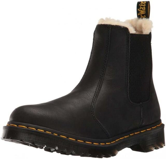 Dr. Martens Leonore Burnished Wyoming Leather Fashion Boot