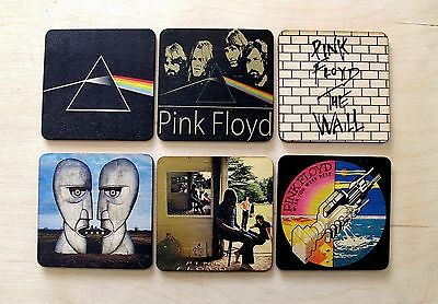 Pink Floyd Birch WOOD 6 Piece Coaster Set / Very High Quality     Collectible