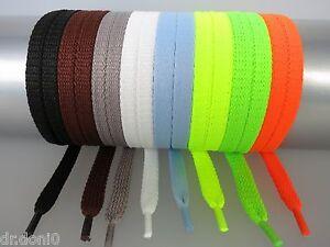 Schnuersenkel-70-200-Flachsenkel-Schwarz-Weiss-Senkel-Sneaker-Neon-Polyester-Flach