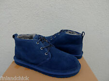 UGG NEUMEL NEW NAVY SUEDE/ SHEEPSKIN CHUKKA ANKLE BOOTS, US 8/ EUR 40.5  ~NEW