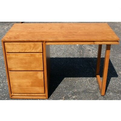 Excellent Russel Wright For Conant Ball Company Mid Century Modern Solid Birch Desk Ebay Download Free Architecture Designs Scobabritishbridgeorg