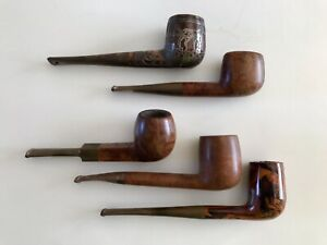 Details about Vintage Estate Smoking Pipes Lot 5 Savinelli, Hilson  Fantasia, Comoy's